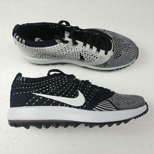 e97d4c1b9b Nike · Nike Flyknit Racer G Golf Shoes Oreo White Black